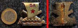 Insigne Armée Française 34° RA Régiment D'Artillerie DELSART N°1100 - Landmacht