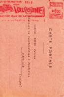 EMA Havas  Huile VALVOLINE  Paris 27 Décembre 1948 Pour Saint Dié  Moteur, Voiture - Fabriken Und Industrien