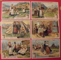 6 Chromo Liebig : Anciens Costumes Norvégiens Norvège Norge. 1912. S 1040. Chromos. - Liebig