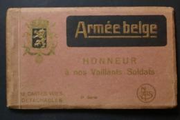 ARMEE BELGE /Boekje Met 10 Kaarten / Livret 10 Cartes - Manovre