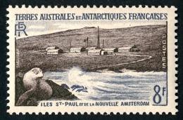 TAAF 1956 - Yv. 5 *   Cote= 25,50 EUR - Faune. Otarie, St-Paul Et N.Amsterdam  ..Réf.TAF21037 - Terres Australes Et Antarctiques Françaises (TAAF)