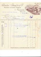 F131 -Facture Gebrüder Schnyder Seifen Soda Fabrik Madretsch Biel Pour Sierre 1927 (attention Bord Droit Déchirure) - Suisse