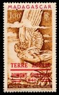 TAAF 1948 - Yv. PA 1 *   Cote= 55,00 EUR - Timbre De Madagascar Surchargé  ..Réf.TAF21030 - Poste Aérienne