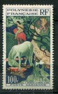 15642 POLYNESIE  PA3° 100F Le Cheval Blanc, Par Gauguin   1958  TB - Poste Aérienne