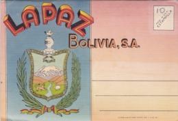RECUERDO DE LA PAZ, BOLIVIA - PHOTOSET WITH 18 COLOR PHOTOS, YEAR 1948 -LILHU - Bolivia