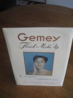 """Ancien Glacoïde Publicitaire Original Années 60- GEMEY Fluide Make-up - """"Le Seul Maquillage Ne Déshydratant Pas La Peau"""" - Plaques Publicitaires"""