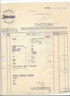 F135 - Facture Rechnung Seifenfabrik Sunlight Olten Pour Sierre 1927 - Suisse