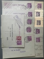 France, Lot De 11 Entiers Postaux Type Paix - (B2660) - Lots Et Collections : Entiers Et PAP