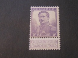 Effigie SM Albert I, Type Pellens (1912) Vendu à 20% De Sa Valeur Catalogue. COB 117** - 1912 Pellens