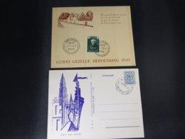 BELG.1949 813 Mooie Herinneringskaart Met Eerste Dag Stempels Brugge & PK 1951 - FDC
