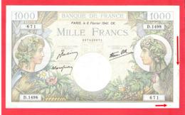Billet 1000 Francs Commerce Et Industrie Très Bel état - 1871-1952 Gedurende De XXste In Omloop