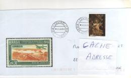 Beau Timbre , Stamp   Sur Lettre , Enveloppe , Cover , Mail Du 12/01/1999 Pour La France - Brazilië