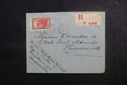 MADAGASCAR - Enveloppe En Recommandé De Manjakandriana Pour Tananarive En 1937,  Affranchissement Plaisant - L 47343 - Madagaskar (1889-1960)