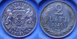 LATVIA - Silver 2 Lati 1926 KM# 8 First Republic (1918-1939) - Edelweiss Coins - Latvia