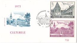 België - FDC 383/384 - 24 Maart 1973 - Culturele Uitgifte - Abdijen - OBP 1662-1665 - FDC