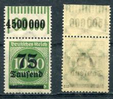 D. Reich Michel-Nr. 288II Oberrand Walze Postfrisch - Geprüft - Ungebraucht