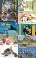 SCHEDE TELEFONICHE E TESSERE VARIE TEMATICA ANIMALI N° 10 MISTE - Schede Telefoniche
