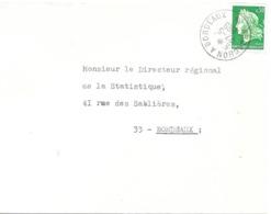 Ambulant : Arcachon A Bordeaux * 27 -5 I969 - Railway Post