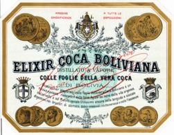 Elixir Coca Boliviana, Distillato A Vapore - Etiketten