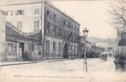 BAD- PARIS LA HALLE AUX CUIRS INCENDIEE LES 11 ET 12 MAI 1906 CPA  CIRCULEE - Distretto: 05