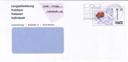 [A4] Ganzsache Puzzle Briefzentrum Md - Herz Zeigen TBC - [7] République Fédérale