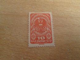 PUB1119 Timbre DEUTSCHOSTERREICH (cadeau Publicitaire NAZART Années 60) Début 20e Siècle 10 HELLER ROUGE AUTRICHE - 1850-1918 Empire