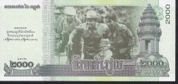 CAMBODIA  P64  2000 RIELS  2013    UNC. - Cambodge