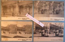 LOT De 4 CPA Stereo MONACO - Café Et Chocolat Alfred Marie Versailles - Palais Du Prince Etc. Monte Carlo Stereoscopique - Mónaco