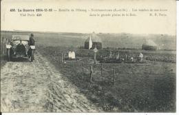 Guerre 1914-15-16-Neufmoutiers- Les Tombes De Nos Héros Dans La Grande Plaine De La Brie - Guerre 1914-18