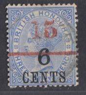 British Honduras - 1891 - 15c On 6c Yv.73 - Used - Honduras Britannico (...-1970)