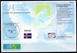 ISLANDE / ICELAND Is45 20190618AA Int.Reply Coupon Reponse Antwortschein IAS IRC Hologram O REYKJAVIK 09.10.2019 FD! - Postwaardestukken