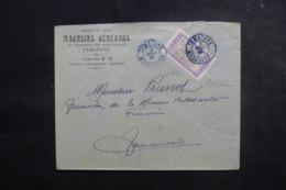 MADAGASCAR - Enveloppe Commerciale De Tamatave Pour Tananarive En 1925,  Affranchissement Plaisant - L 47369 - Madagaskar (1889-1960)