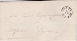 FRANCE : Lettre En Franchise Militaire écrite En Allemand  De Colmar Els De 1878 Pour Egisheim - 1877-1920: Période Semi Moderne