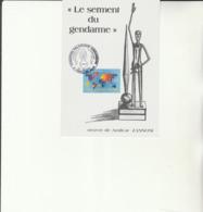 G 1 - Carte   Avec Cachet  Exposition Gendarmerie à SIERCK LES BAINS - Le Serment Du Gendarme  Amilcar ZANNONI - Cachets Commémoratifs