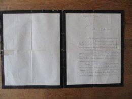 AJACCIO LE 21 AOUT 1874 COURRIER DE MARIANNE L.Y. BONAPARTE AU MINISTRE ROUHER LE PRINCE CHARLES BONAPARTE CONTRE LE PRI - Manuscrits