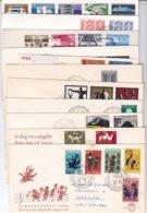 1963-1969 11 Eerstedagenveloppen Tussen E 60 - 95 Beschreven - FDC