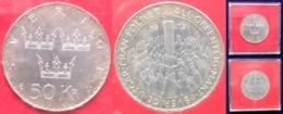 "SWEDEN - Silver 50 Kronor 1975 ""Constitucional Reform"" KM# 848 Carl XVI Gustav - Edelweiss Coins - Suède"