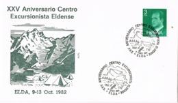 34650. Carta ELDA (Alicante) 1982. Centro Excursionista Eldense. Montañismo - 1931-Hoy: 2ª República - ... Juan Carlos I