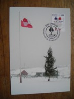 Carte Maximum 2012,, Noël, Sud Groenland, Drapeau (2) Yule, Flag - Cartes-Maximum (CM)