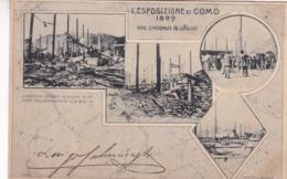 L'ESPOSIZIONE DI COMO 1899, DOPO L'INCENDIO (8 LUGLIO). ITALIE POSTALE CPA CIRCA CIRCULEE 1907 A PILAR, ARGENTINA -LILHU - Como