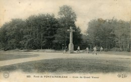 CPA - FONTAINEBLEAU - FORET - CROIX DU GRAND VENEUR - Fontainebleau