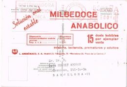 34652. Postal Privada MADRID 1970. MILBEDOCE Medicamentos. Franqueo Mecanico. ERROR Postal - 1931-Hoy: 2ª República - ... Juan Carlos I