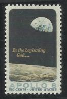 USA UNITED STATES STATI UNITI 1969 GIORI PRESS PRINTING SPACE SPAZIO MOON SURFACE AND EARTH CENT. 6c MNH - Stati Uniti