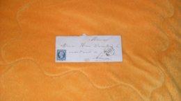 LETTRE ANCIENNE DE 1853../ PORT DU SALUT ? A VERIFIER POUR ALENCON..OBLITERATION PC 1673 LAVAL + TIMBRE LETTRE B SOUS LE - Marcophilie (Lettres)