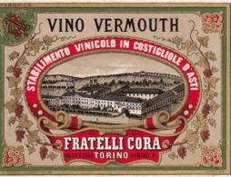 Vino Vermouth, Stabilimento Vinicolo In Castiglione D'Asti, F.lli Cora - Etiketten