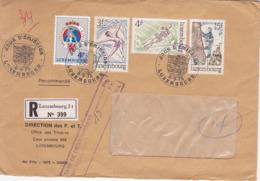 Enveloppe Timbrée 1975 Recommandé (RP) LUXEMBOURG – Cachets Jour D'émission - Luxemburg