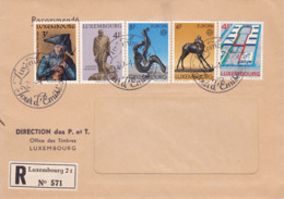 Enveloppe Timbrée 1974 Recommandé (RP) LUXEMBOURG – Cachets Jour D'émission - Luxemburg