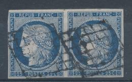 N°4 CERES PAIRE FONCE GRILLE 1849 - 1849-1850 Cérès