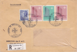 Enveloppe Timbrée 1967 Recommandé (RP) LUXEMBOURG – Cachet Conseil De L'Atlantique Nord - Luxemburg