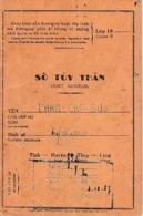 1951 - INDOCHINE - RECRUTEMENT INDIGÈNE - LIVRET INDIVIDUEL - Rengagé En 1953 - Historical Documents